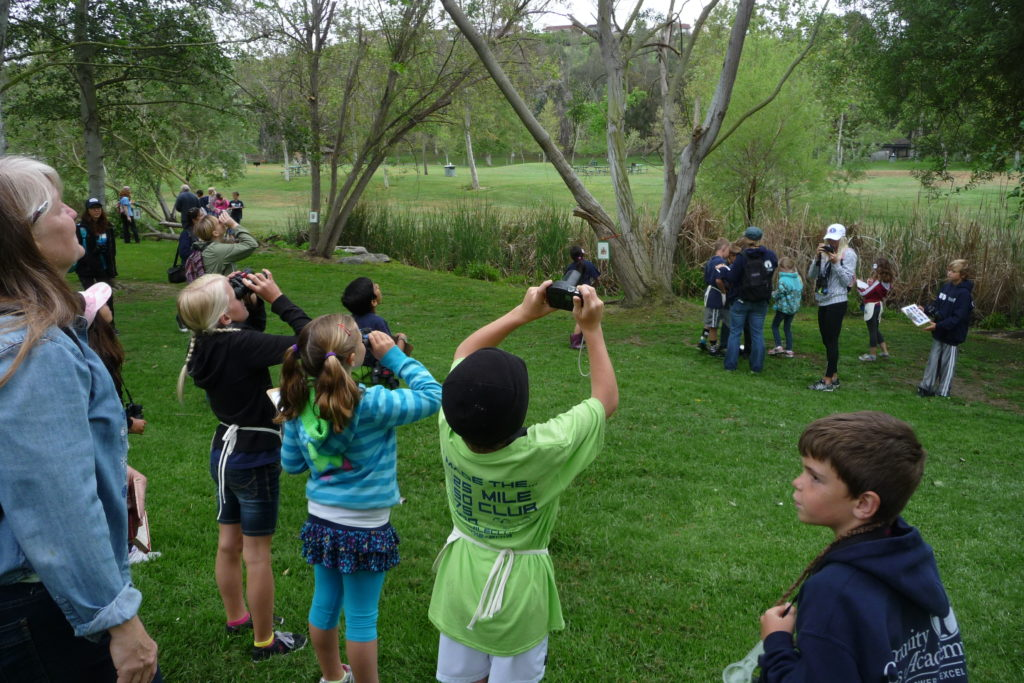 Children on an environmental field trip